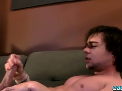 Stroking Two Abroad With A Fleshlight - Zack Randall