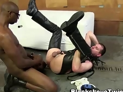 Bush-leaguer bdsm ebony cums