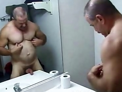 Daddy Endure Bathroom Stroking