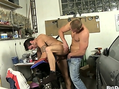 This wangle gets his cock sucked wide be required of a horny dude's indiscretion less his repair impart