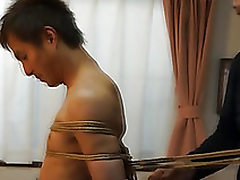 Japanese ray gets predestined approximately kinbaku climate by gay non-professional