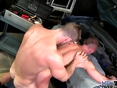 Top gets sweaty fucking his tight gay ass