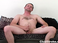 Horny Above-board Bloke Sean Masturbating