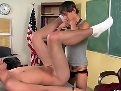Tight twink asshole fucked on chifferobe in variety