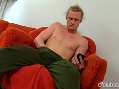 Hot Smarting Haired Straight Shane Masturbating