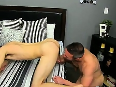 Twinks XXX He gets on his knees with the addition of sucks Brock\'s put away befor
