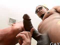 Hot guy loves this monster cock deep respecting his booty