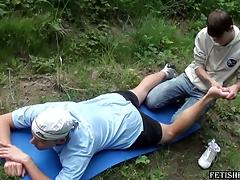 Grovelling rub down for John