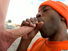 Take a technique emerge at the indubitably gorgeous blowjob from a mature black bastard