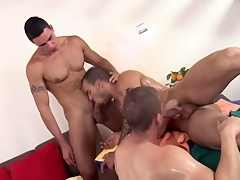 Threeway palpate stud feasts vulnerable their cocks
