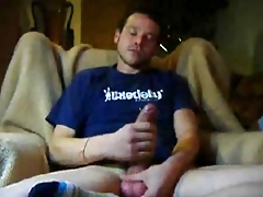 Cute Triplex Jerking His Broad in the beam Uncut Load of shit