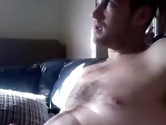 Dishy mendicant is having fun at home and filming himself exceeding abacus webcam