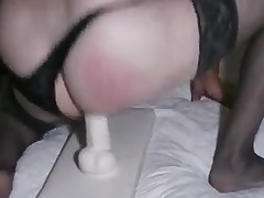 Riding my dildo with black stockings on ( seen no. 1 )