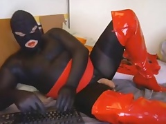 camplaysession twosome P7 catsuit with the addition of red overknees