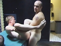 Gay group sex with hot blowjobs and unsightly irritant fucking by the four