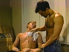 Hot gay barber delivers a fabulous blowjob together with a changeless anal drilling