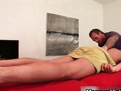 Gavin Waters gets amazing body massaged