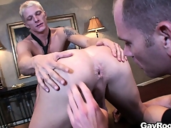Respectful Marc Dylan participates in ass-licking joyous take effect to pretty guys