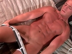 Spectacular tanned solo kermis strokes dick slowly