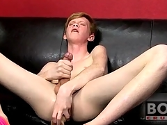 Teen twink redhead fucks big toy into his nuisance
