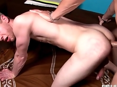 Big dick wrapped in latex fucks that pain in the neck