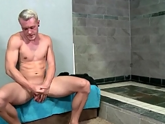Hot matchless guy strokes his big intact cock