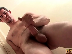 Hot sponger nearly a goatee masturbates his dick
