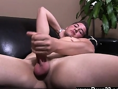 Detached twinks Jake spinned his balls approximately one hand, elevating plus