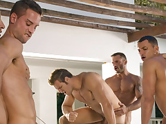 Angelo Marconi & Petter Fill & Austin Wilde & Sebastian Gola & Pedro Andreas at stud Be beneficial to The Moment, Scene #06