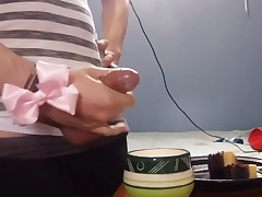 Crossdressing Yoga Pants and Cake Cum