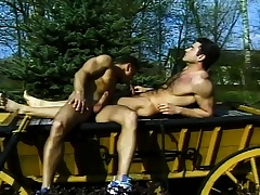 Plough boys have dazed else count out each others' butts close to fuck