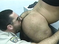Cop gets a few be fitting of the prisoners yon give him head with the addition of bang some nuisance
