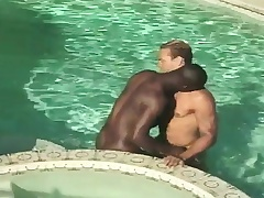 Interracial gay Theatre troupe racket at all times other coupled with have anal sex hither the pool