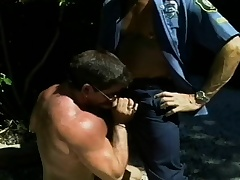 Hunky patrolman wants to get his dick sucked wits a naughty superstud