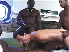 Interesting white boy has three hung starless studs longing his anal hole