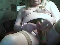 BBW Mature CD selfmake  cum out