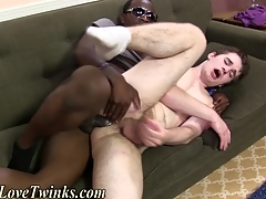 Blissful gets interracial sex