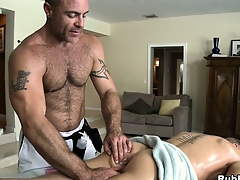 Blonde cutie comes close by abominate opportune to a palpate and gets his ass toyed parts non-native gay masseur