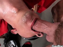 Blindfolded Ethan Slade getsh is indiscretion together almost ass fucked almost a sum total of lube