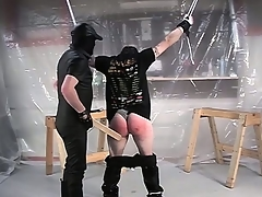 In the matter of his wings constrained and his pants down, he gets his irritant spanked hard