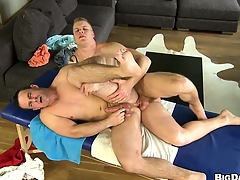Bear has his Victorian ass ripped by a hung jock's big oily schlong