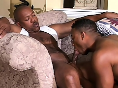 Cute black twink has a muscled pitch-black stud drilling his wide rub-down the final hole