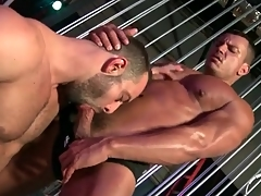 Robust guys repute in deepthroat BJ video