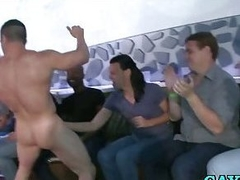 Gays swell up male stripper cock