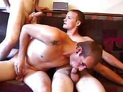 Inferior undeceitful twink group fun exceeding love-seat