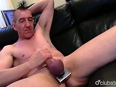 Pierced Straight Marc Jerking Missing His Neb