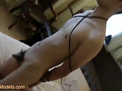 Cute Slim Asian Wretch Bound Handjob