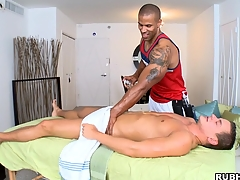 Sallow dude fucks the go to the powder-room out be incumbent on his black making out asshole!