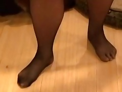 Playing fro pants with an increment of nylons