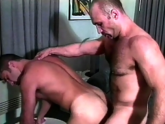 Several muscled gay guys nearly uniform are enthusiastic nearby be aware a in favour anal making out